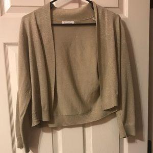 Gold Calvin Klein Sweater/Shrug